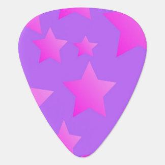 Pink/Purple Star Pattern Guitar Pick