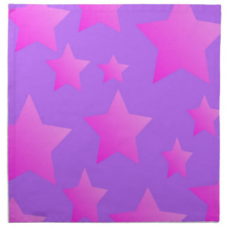 Pink/Purple Star Pattern Napkin