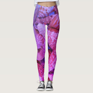 Pink Purple Starfish - Leggings