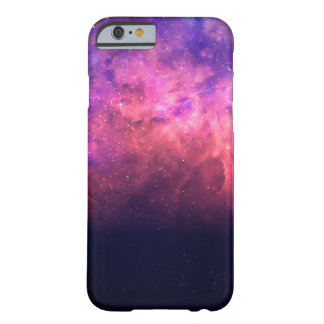 Pink Purple Starry Sky Cosmic Galaxy Sky Fire Glow Barely There iPhone 6 Case