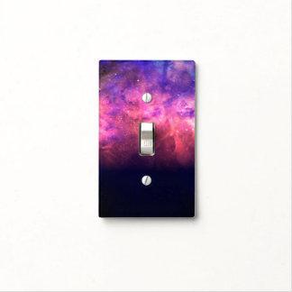 Pink Purple Starry Sky Cosmic Galaxy Sky Fire Glow Light Switch Cover