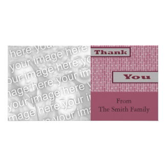 pink purple Thank You Photo Card Template