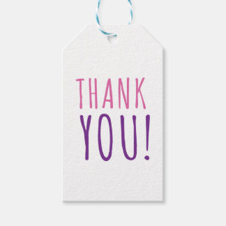Pink & Purple Thank You Watercolor Pack Of Gift Tags