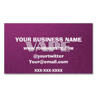 Pink Purple Vape Magnetic Business Card