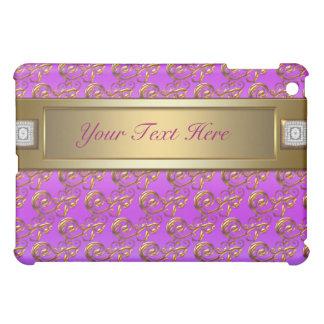Pink Purple Violet Gold Swirls  iPad Mini Cases
