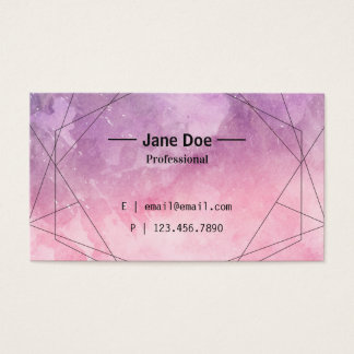 Pink & Purple Watercolor Abstract Business Card