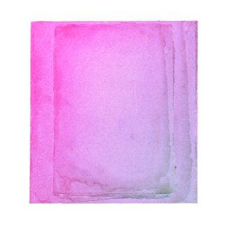 Pink Purple Watercolor Sheets Notepad