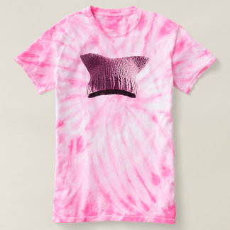 Pink Pussy Cat Hat T-shirt