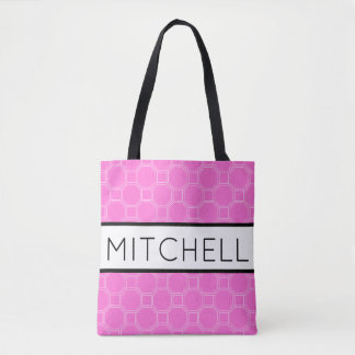 Pink QHT Personalized Tote Bag