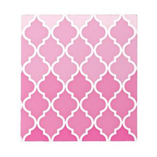 Pink Quatrefoil Notepad