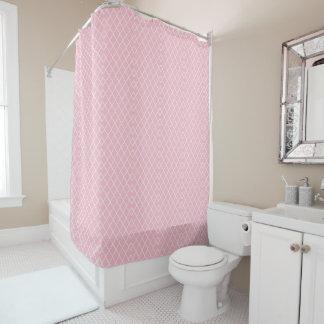 Pink Quatrefoil Shower Curtain