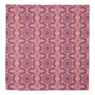 Pink Quilt Duvet Cover