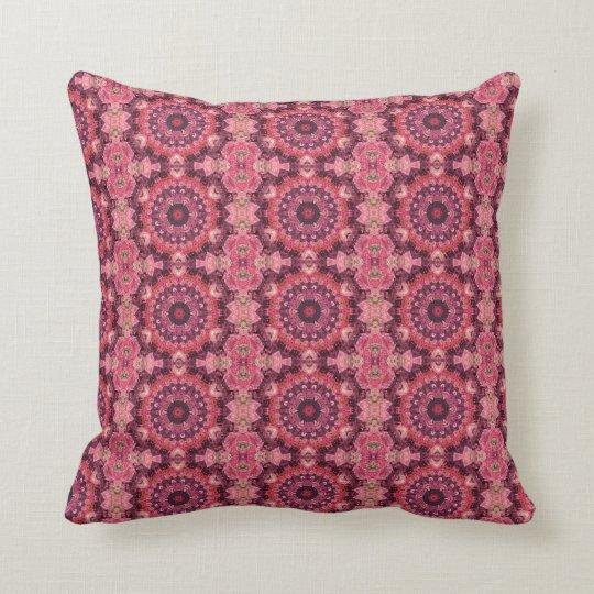 Pink Quilt Throw Pillow