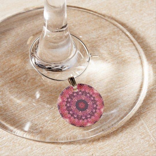 Pink Quilt Wine Charm
