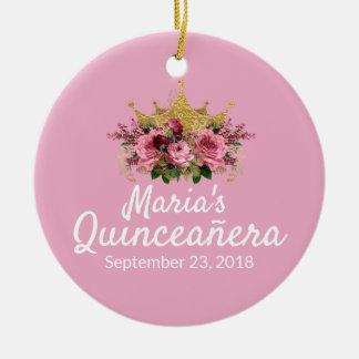 Pink Quinceañera Keepsake Ornament