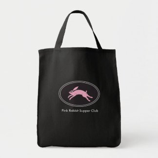 Pink Rabbit Supper Club Grocery Tote Bag