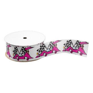 Pink Racecar Ribbon Grosgrain Ribbon