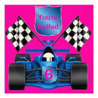 PINK  Racing Invitation
