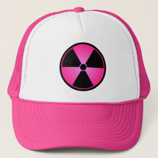 Pink Radiation Symbol Cap