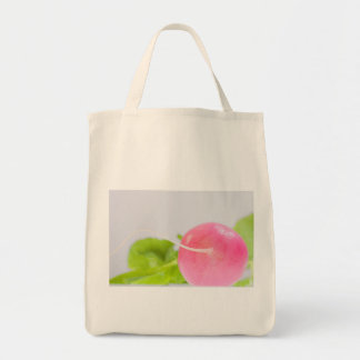 Pink Radish with Leaves Tote Bag
