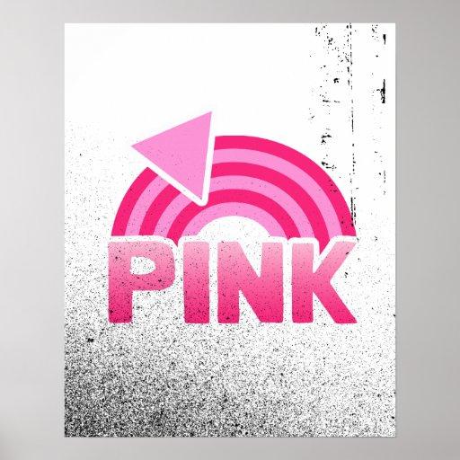 PINK RAINBOW FLAG PRINT