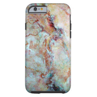 Pink rainbow marble stone finish tough iPhone 6 case