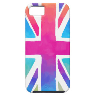 Pink Rainbow Watercolor British Flag iPhone 5 Case