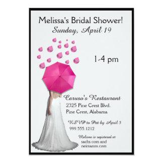 Pink Raindrops Bridal Shower Invitations