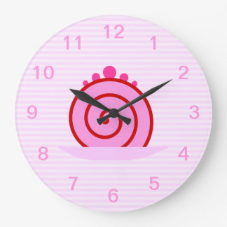 Pink Raspberry Cake. Large Clock