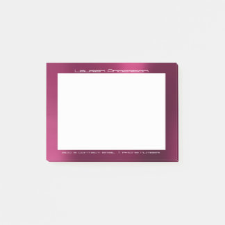 Pink Raspberry Office Custom Personalized Post-it Notes