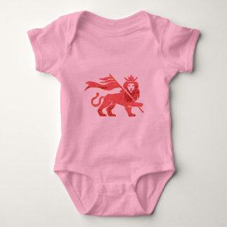 Pink rasta baby baby bodysuit