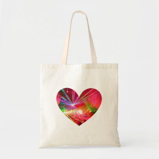 Pink Rave Lights Heart Bag