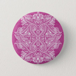 Pink, Raven of mirrors, dreams, bohemian 2 Inch Round Button