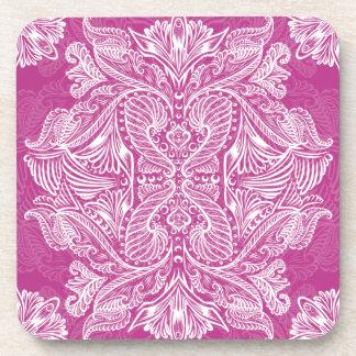 Pink, Raven of mirrors, dreams, bohemian Coaster