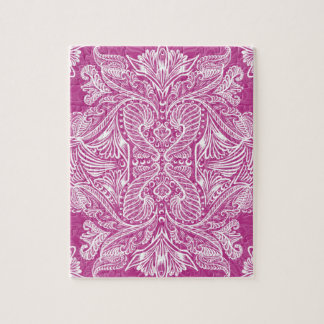 Pink, Raven of mirrors, dreams, bohemian Jigsaw Puzzle