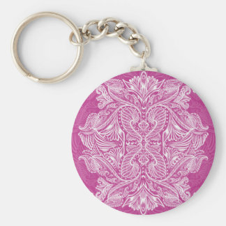 Pink, Raven of mirrors, dreams, bohemian Keychain