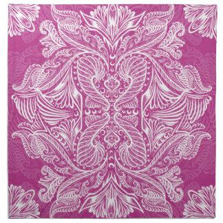 Pink, Raven of mirrors, dreams, bohemian Napkin