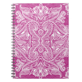 Pink, Raven of mirrors, dreams, bohemian Spiral Notebook