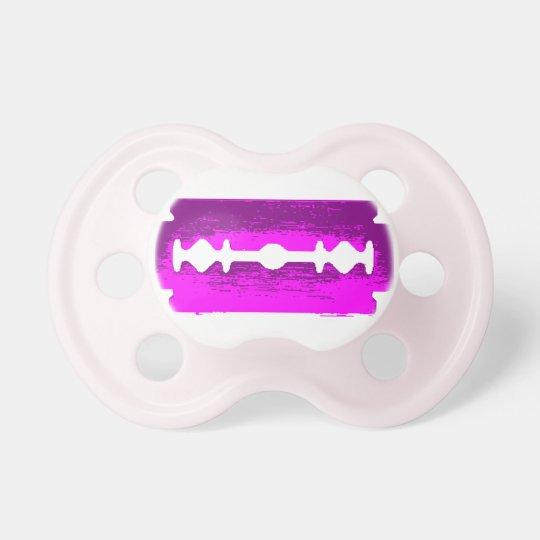 Pink Razor Blade Pacifier
