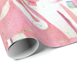 Pink Razzle Valentines Wrapping Paper