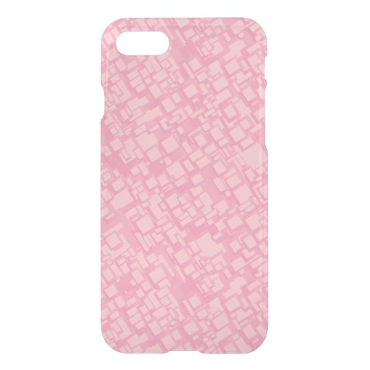 Pink rectangle pattern iPhone 7 case