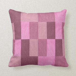 Pink Rectangles Design Throw Pillow