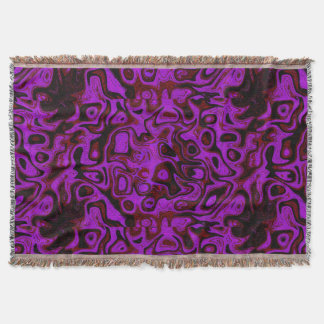 Pink, Red and Black Fire Stone Throw Blanket