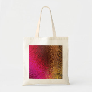 Pink Red And gold Pattern Budget Tote Bag