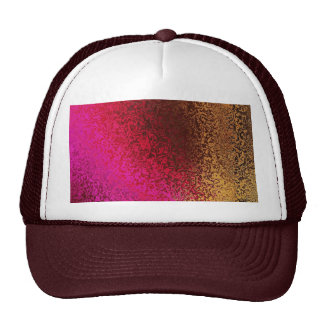 Pink Red And Gold Pattern Trucker Hat