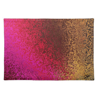 Pink Red And Gold Pattern Place Mat