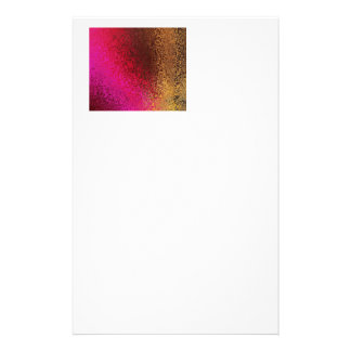 Pink Red And Gold Pattern Stationery Design