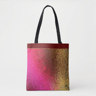 Pink Red And Gold Pattern Tote Bag