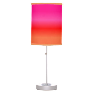 Pink,  Red and Orange Gradient table lamp