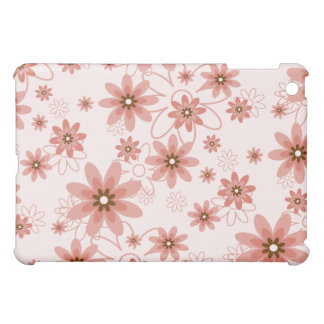 Pink, Red and White Flower Pern  iPad Mini Covers